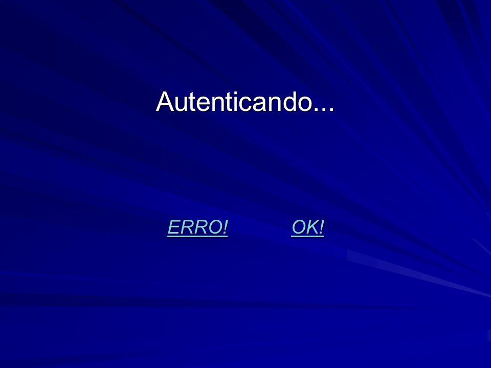 Autenticando... ERRO! OK! ERRO!OK! ERRO!OK!