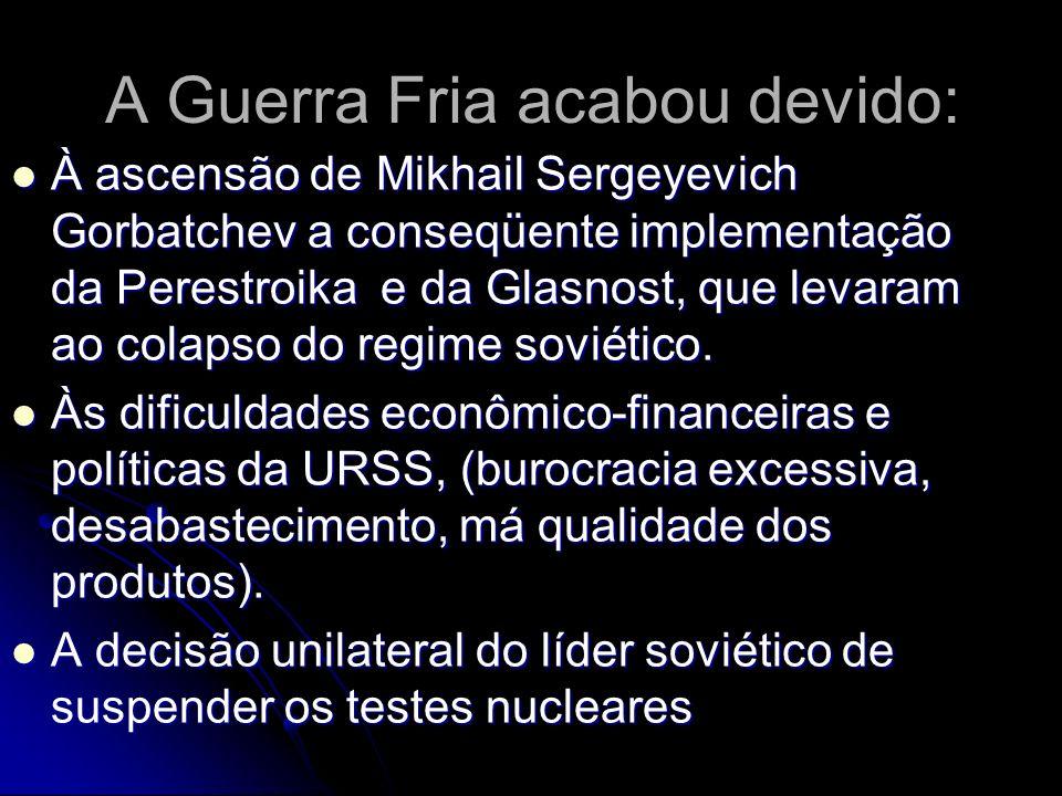 Gorbatchev escreveu o livro: Perestroika, novas idéias para o meu país e para o mundo.