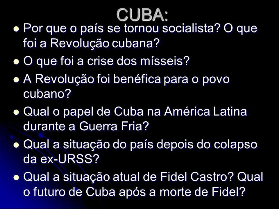CUBA: Por que o país se tornou socialista.O que foi a Revolução cubana.