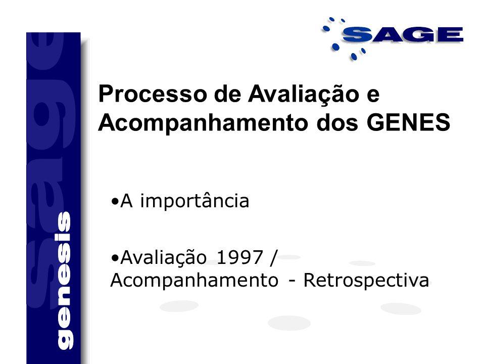 Processo de Avaliação e Acompanhamento dos GENES A importância Avaliação 1997 / Acompanhamento - Retrospectiva