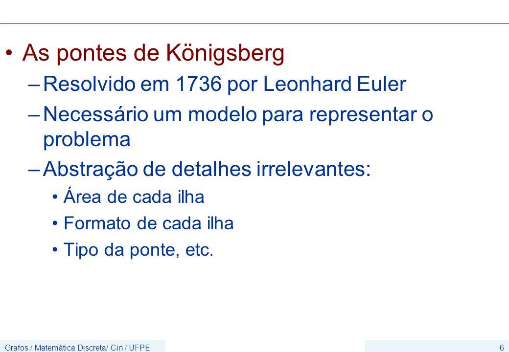 Grafos / Matemática Discreta/ Cin / UFPE37 Quantas arestas tem o K n .