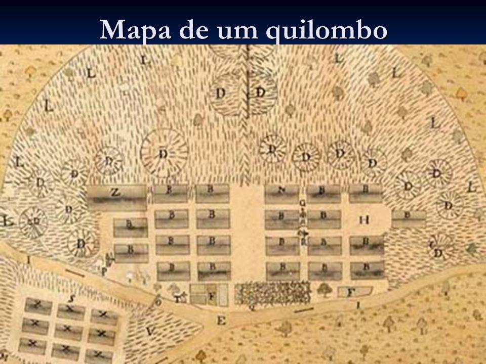 Mapa de um quilombo
