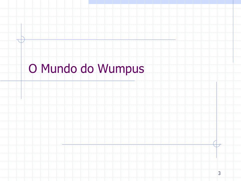 24 Mundo de Wumpus - Agente Cognitivo Regras objetivo modelo ação (ex.