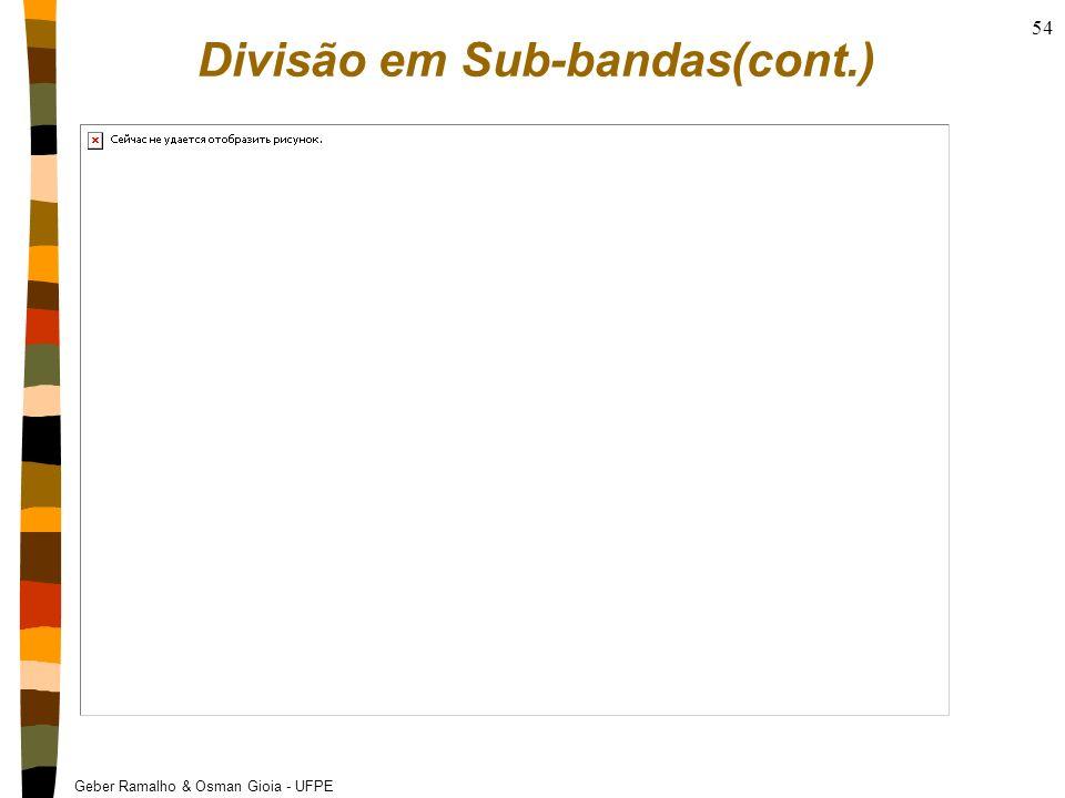 Geber Ramalho & Osman Gioia - UFPE 54 Divisão em Sub-bandas(cont.)