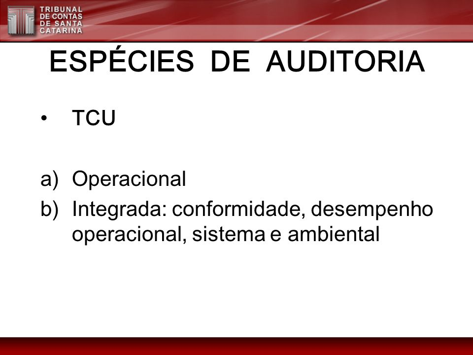 NORMAS SOBRE ELABORAÇÃO DE RELATÓRIOS DA INTOSAI (d) ( d) Integridade.