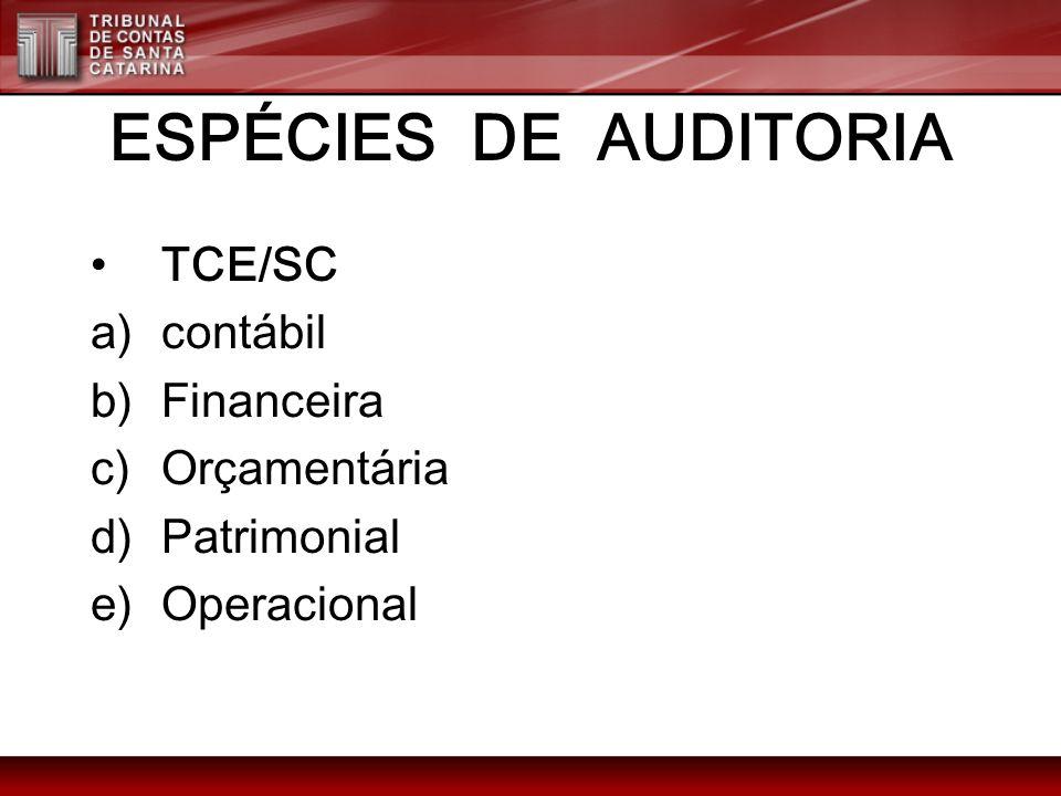 ESPÉCIES DE AUDITORIA Ordinárias (art.18, I, do Dec.