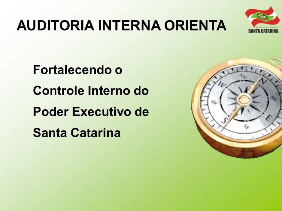 AUDITORIA INTERNA ORIENTA Fortalecendo o Controle Interno do Poder Executivo de Santa Catarina
