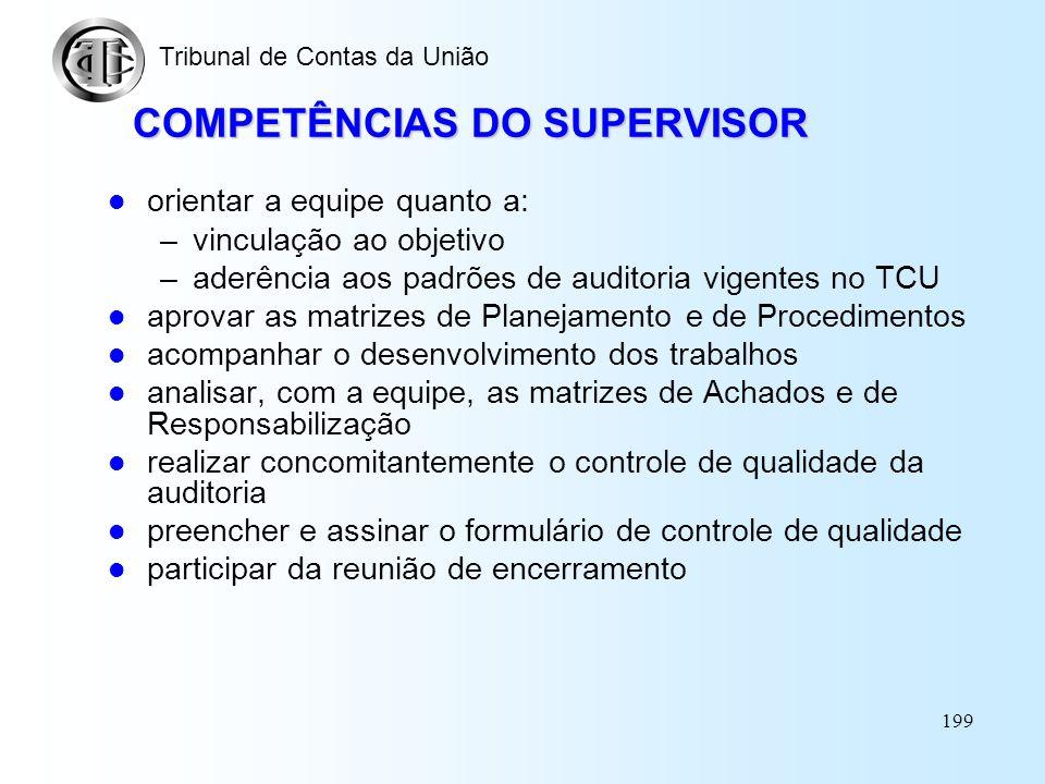 ASPECTOS COMPORTAMENTAIS E PRÁTICOS DOS TRABALHOS DE FISCALIZAÇÃO Tribunal de Contas da União