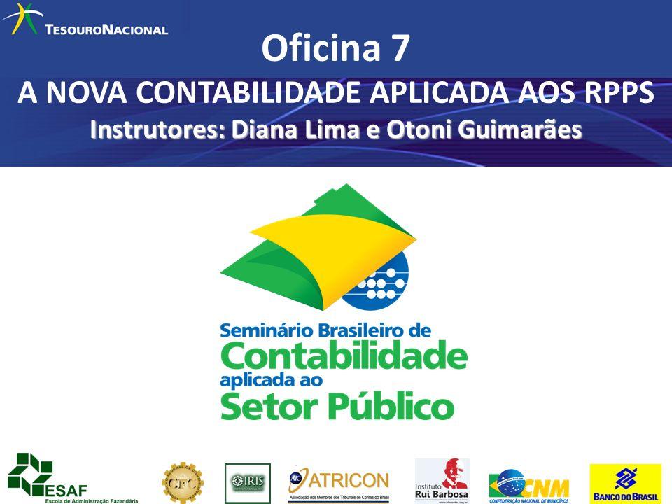 Instrutores: Diana Lima e Otoni Guimarães Oficina 7 A NOVA CONTABILIDADE APLICADA AOS RPPS Instrutores: Diana Lima e Otoni Guimarães