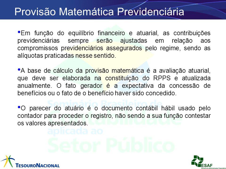 Em função do equilíbrio financeiro e atuarial, as contribuições previdenciárias sempre serão ajustadas em relação aos compromissos previdenciários ass