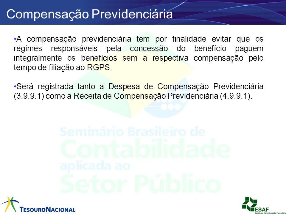 Compensação Previdenciária A compensação previdenciária tem por finalidade evitar que os regimes responsáveis pela concessão do benefício paguem integ