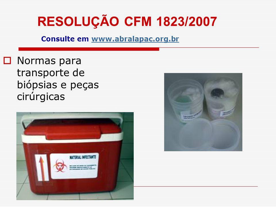 RESOLUÇÃO CFM 1823/2007 Consulte em www.abralapac.org.br PREENCHIMENTO CORRETO DAS REQUISIÇÕES DE EXAMES AP...