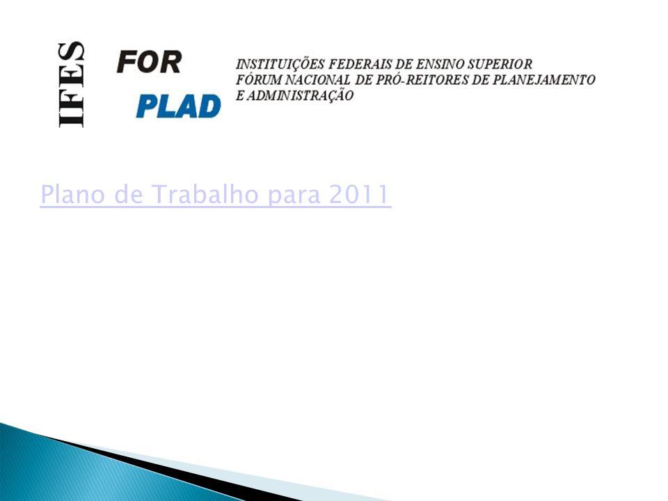 Plano de Trabalho para 2011