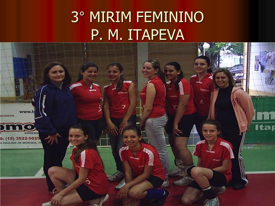 3° MIRIM FEMININO P. M. ITAPEVA