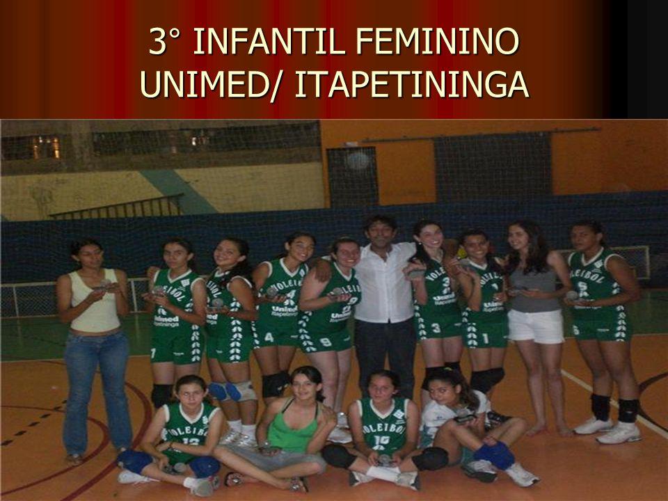 3° INFANTIL FEMININO UNIMED/ ITAPETININGA