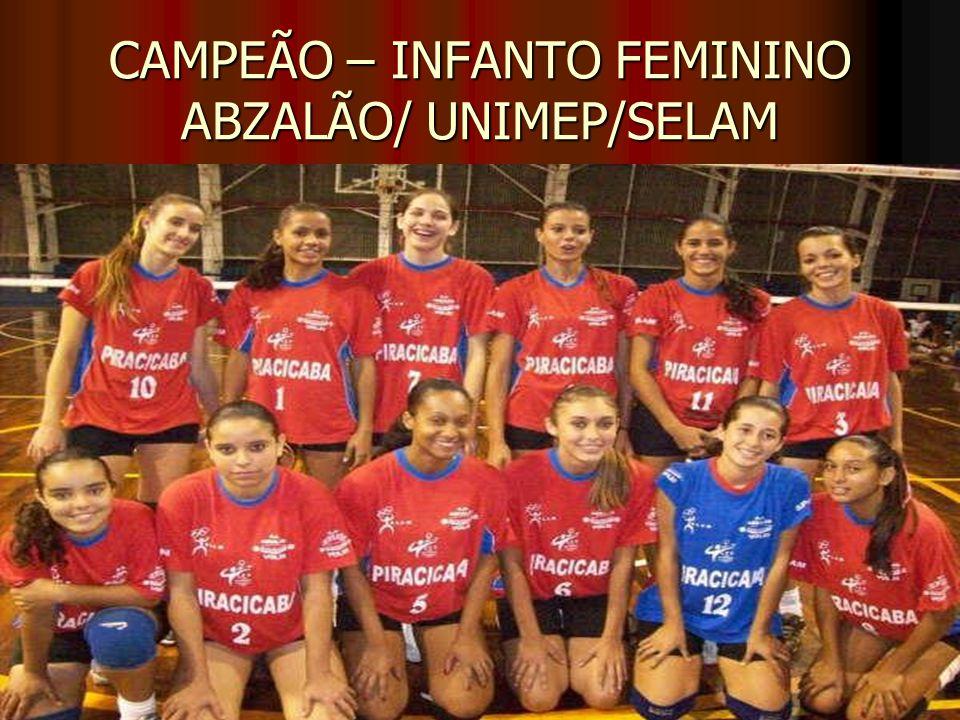 CAMPEÃO – INFANTO FEMININO ABZALÃO/ UNIMEP/SELAM