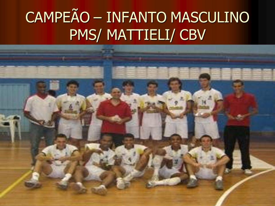 CAMPEÃO – INFANTO MASCULINO PMS/ MATTIELI/ CBV