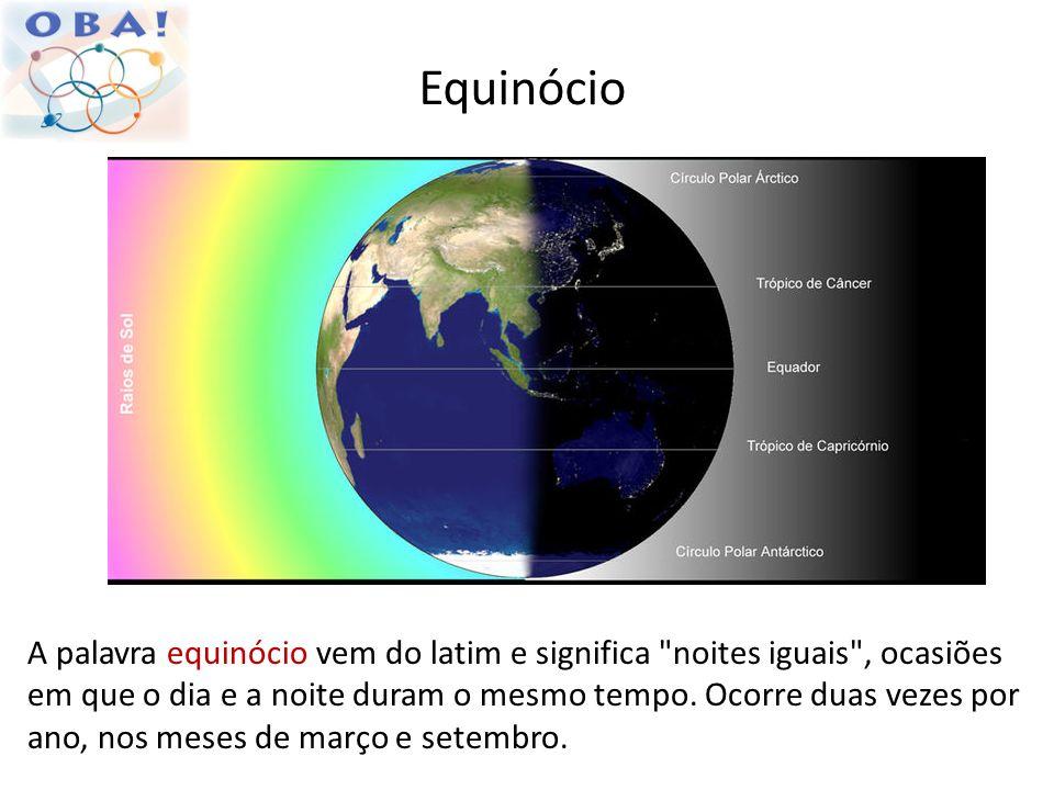 Equinócio A palavra equinócio vem do latim e significa