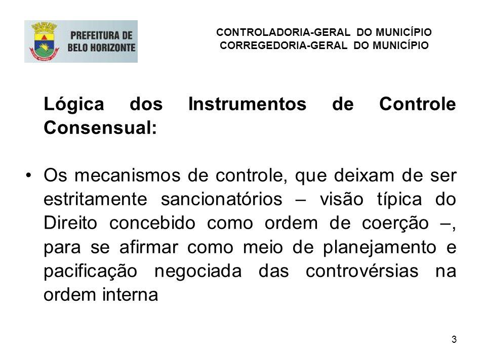 3 Lógica dos Instrumentos de Controle Consensual: Os mecanismos de controle, que deixam de ser estritamente sancionatórios – visão típica do Direito c