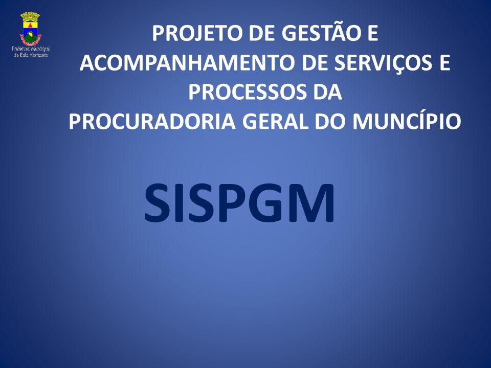PROJETO DE GESTÃO E ACOMPANHAMENTO DE SERVIÇOS E PROCESSOS DA PROCURADORIA GERAL DO MUNCÍPIO SISPGM