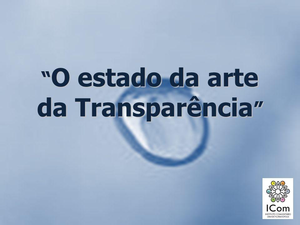 Roteiro Breve panorama sobre transparência no mundo e no Brasil Estratégias de fortalecimento da transparência em ONGs Sistemas de Accountability para ONGs Aprendizados a partir das experiências