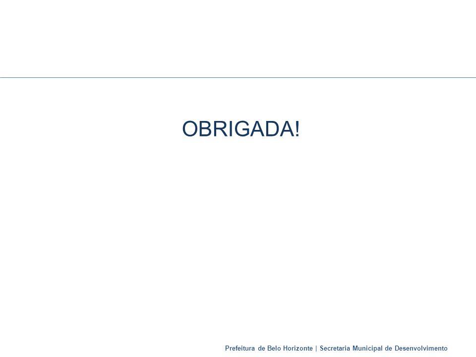 Prefeitura de Belo Horizonte | Secretaria Municipal de Desenvolvimento OBRIGADA!