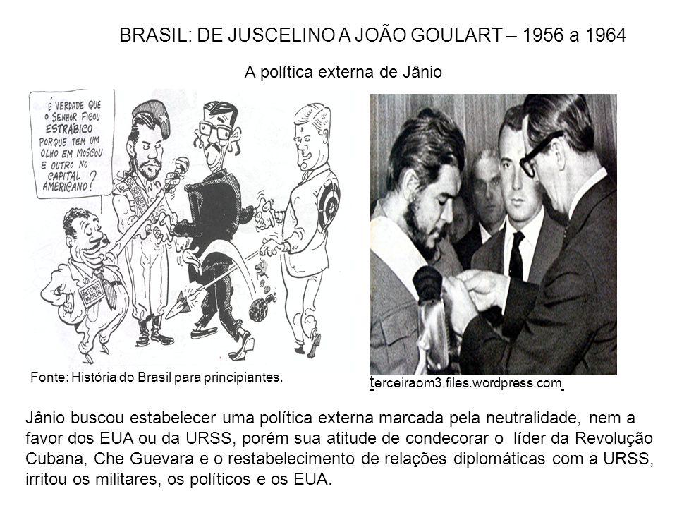 Fonte: História do Brasil para principiantes. A política externa de Jânio Jânio buscou estabelecer uma política externa marcada pela neutralidade, nem