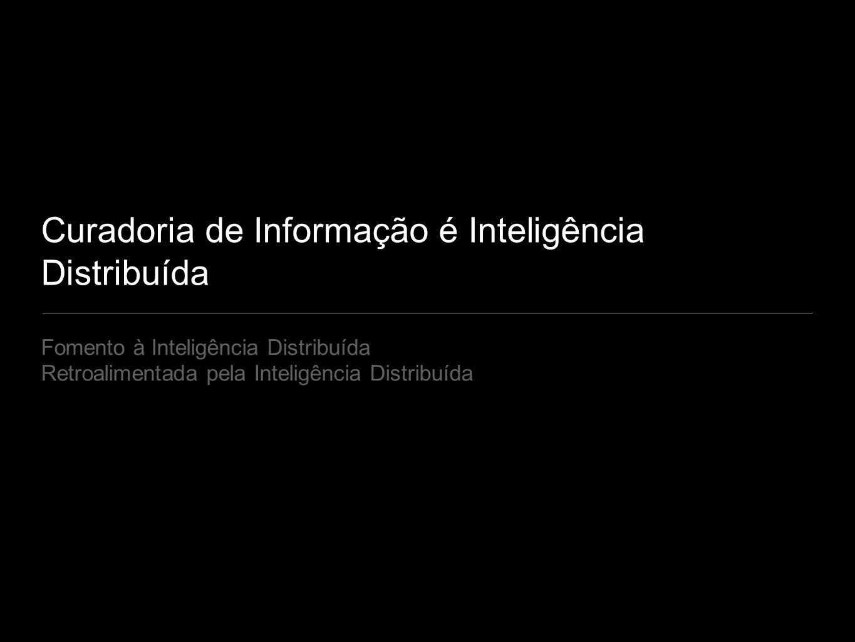 Curadoria de Informação é Inteligência Distribuída Fomento à Inteligência Distribuída Retroalimentada pela Inteligência Distribuída