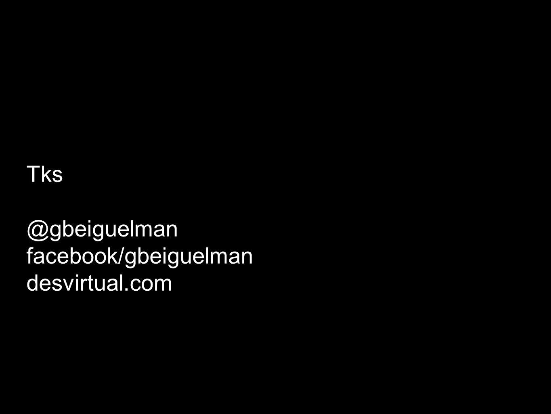 Tks @gbeiguelman facebook/gbeiguelman desvirtual.com