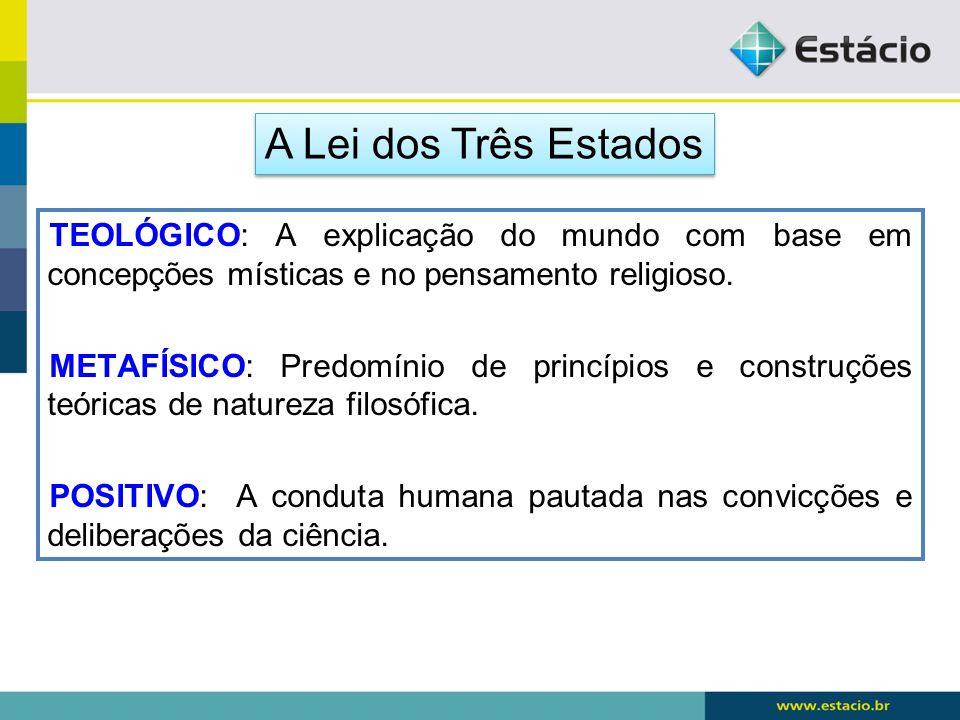 TEOLÓGICO: A explicação do mundo com base em concepções místicas e no pensamento religioso. METAFÍSICO: Predomínio de princípios e construções teórica