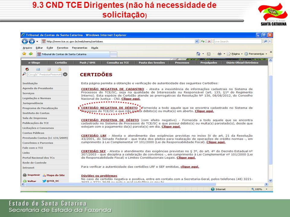 9.3 CND TCE Dirigentes (não há necessidade de solicitação )