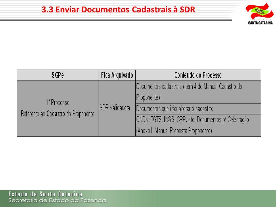 3.3 Enviar Documentos Cadastrais à SDR