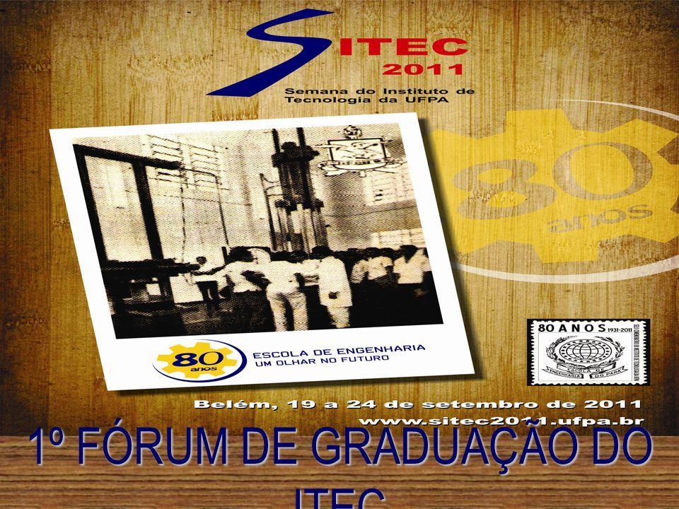 1º Fórum de Graduação do ITEC A Direção do Instituto de Tecnologia da Universidade Federal do Pará e os Diretores das Faculdades do ITEC, em reunião conjunta realizada em 16 de Setembro de 2011, resolveram, no uso de suas atribuições legais, Instituir o Fórum de Graduação no âmbito do ITEC, que se norteará pelos objetivos, diretrizes e procedimentos contidos nesta Carta de Princípios.