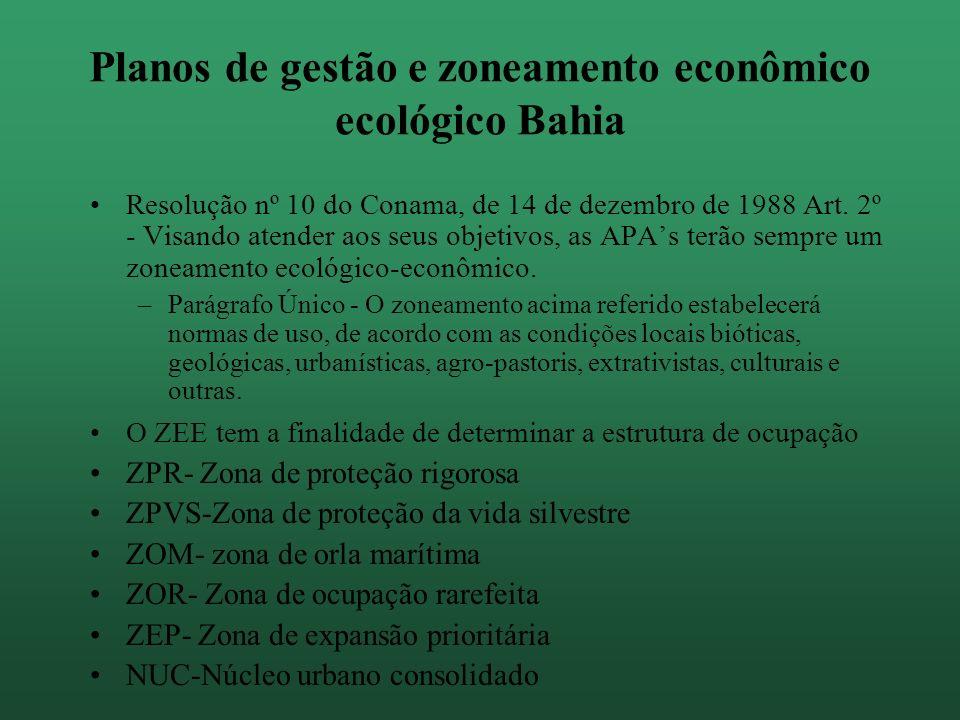 Tipologia das APAs no estado APAs restritivas: 1000 a 15000 ha de extensão.