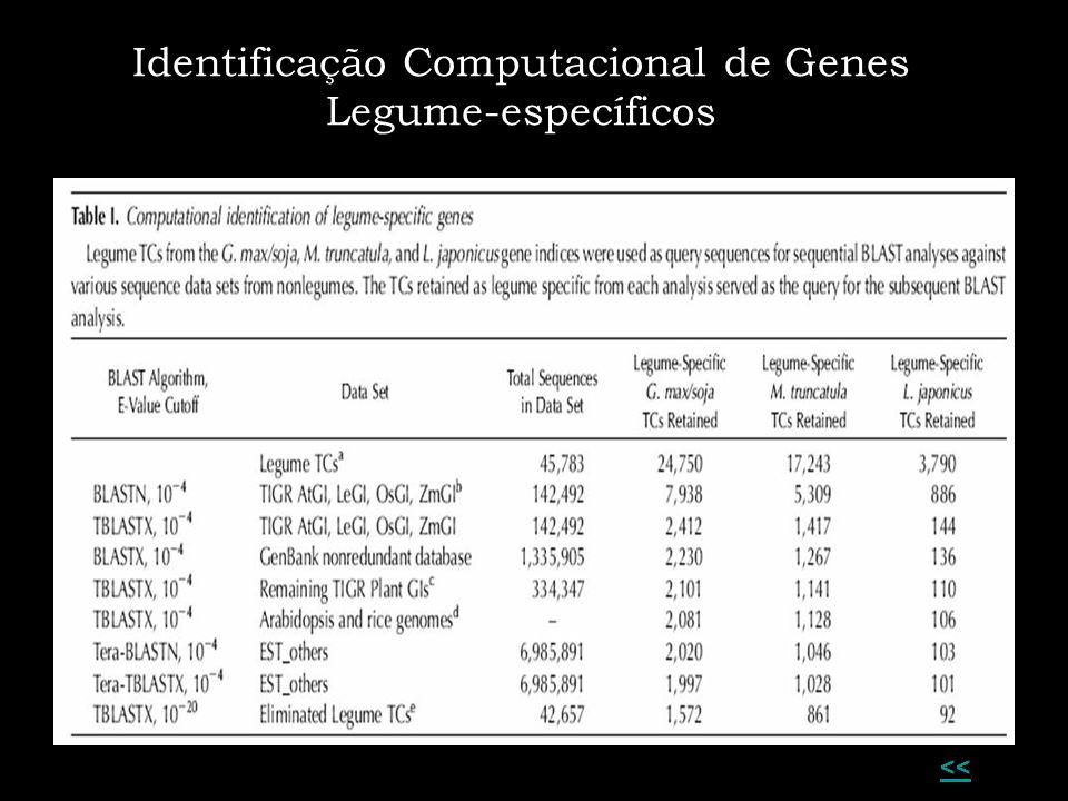 << Identificação Computacional de Genes Legume-específicos