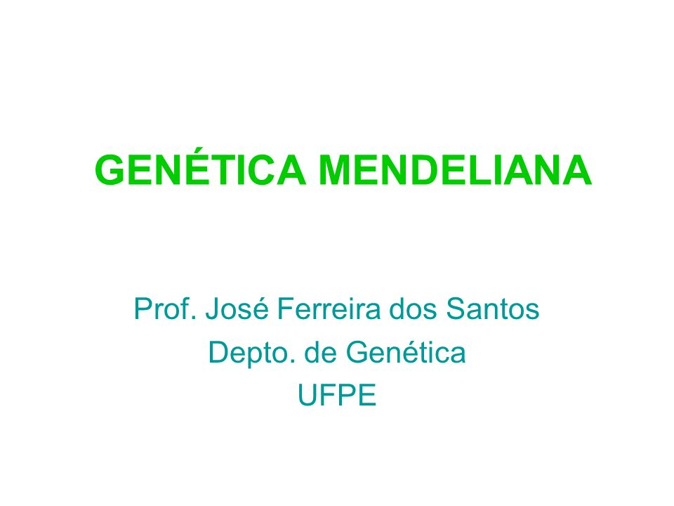 Primeira lei de Mendel Os dois membros de um par de genes se separam durante a formação dos gametas.