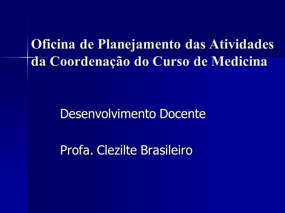 Oficina de Planejamento das Atividades da Coordenação do Curso de Medicina Desenvolvimento Docente Profa. Clezilte Brasileiro