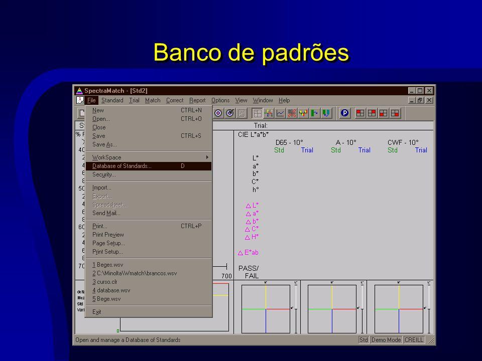 Banco de padrões