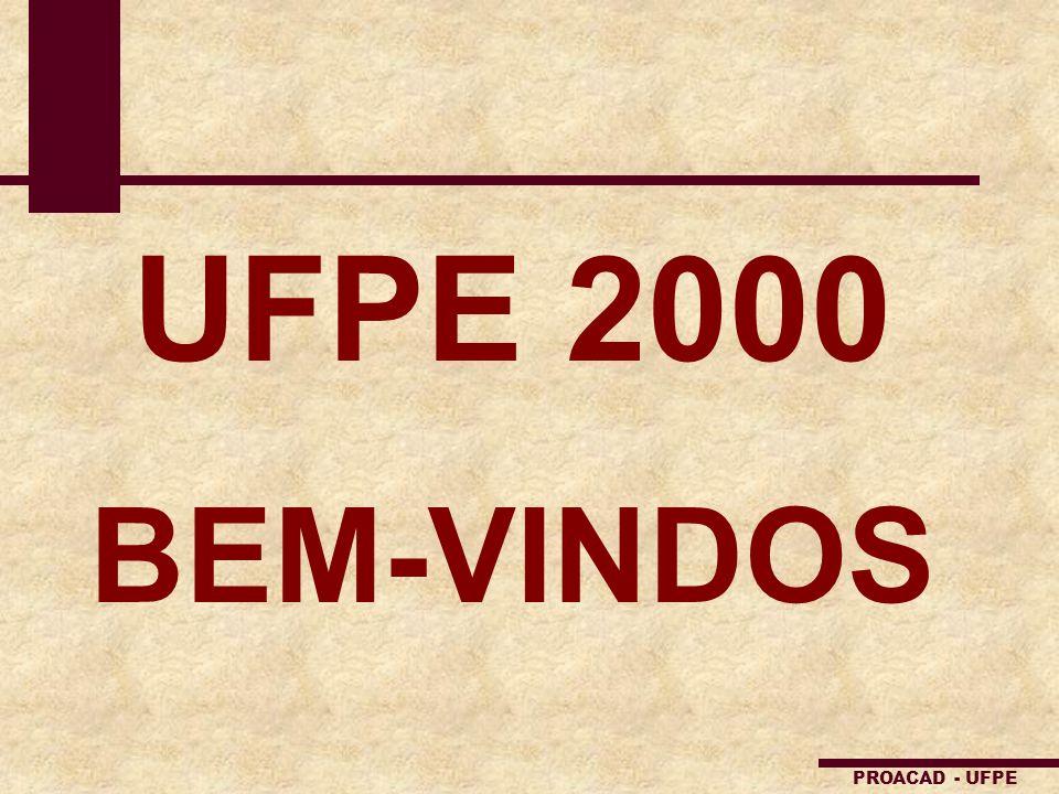 PROACAD - UFPE UFPE 2000 BEM-VINDOS
