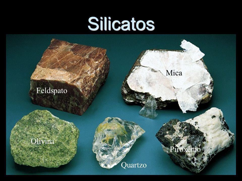 Feldspato Mica Quartzo Olivina Silicatos Piroxênio