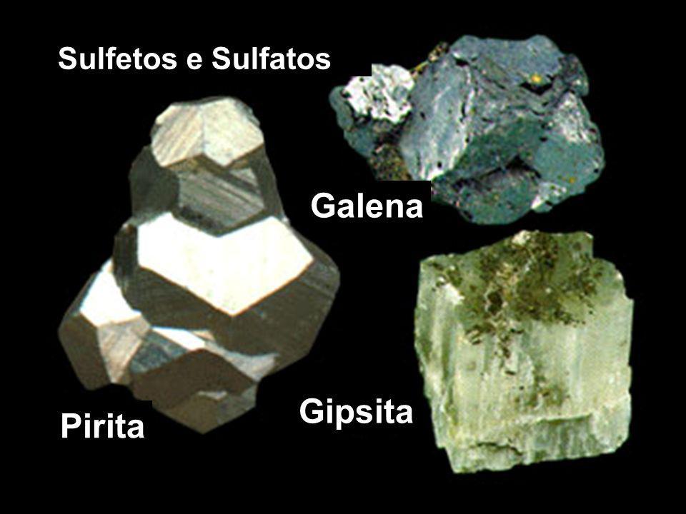 Galena Gipsita Pirita Sulfetos e Sulfatos