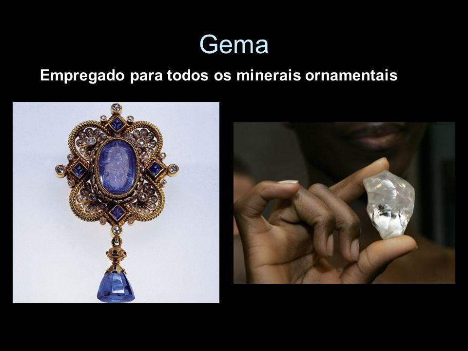 Minério Agregado de um ou mais minerais de interesse econômico ($), normalmente associado à ganga (sem valor econômico).