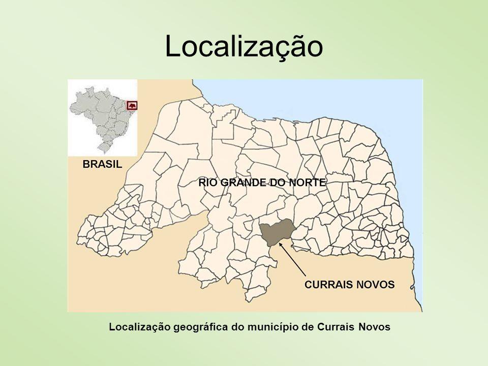 Localização Localização geográfica do município de Currais Novos