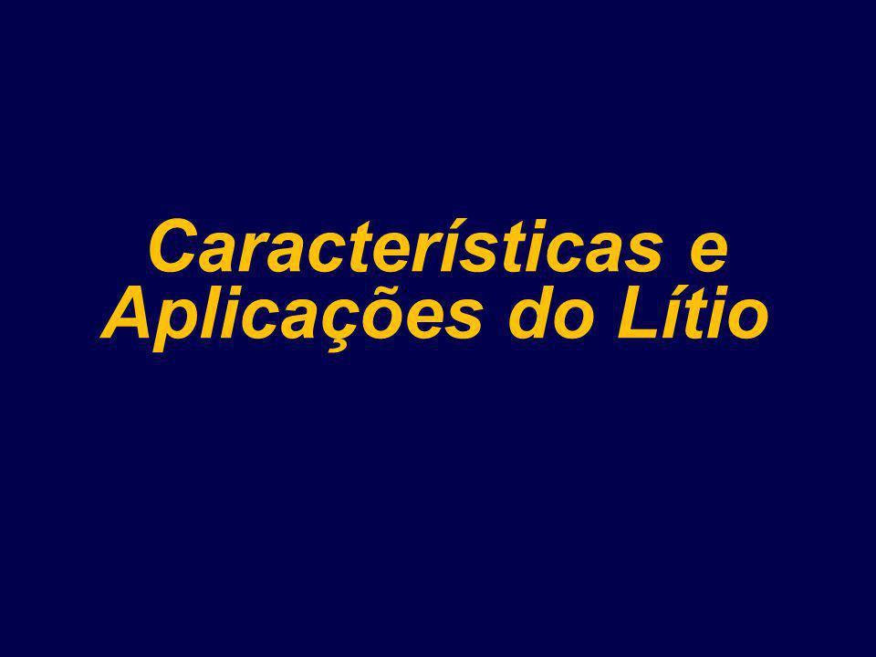 Características e Aplicações do Lítio