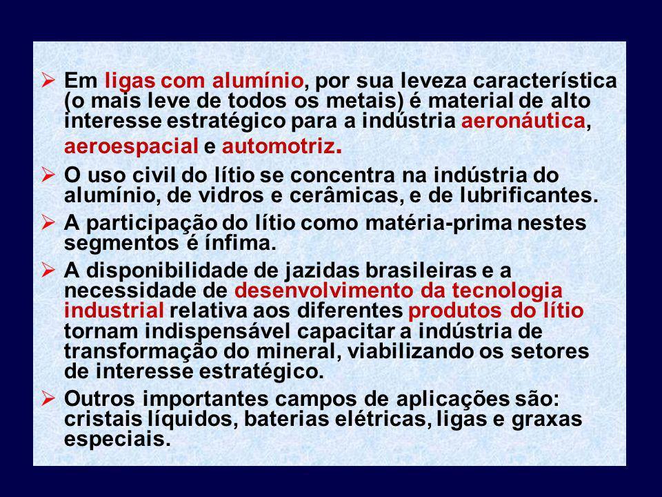 Em ligas com alumínio, por sua leveza característica (o mais leve de todos os metais) é material de alto interesse estratégico para a indústria aeroná
