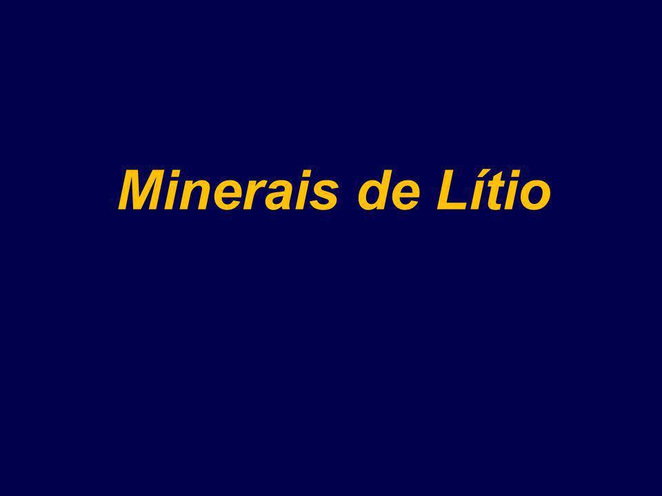 Minerais de Lítio