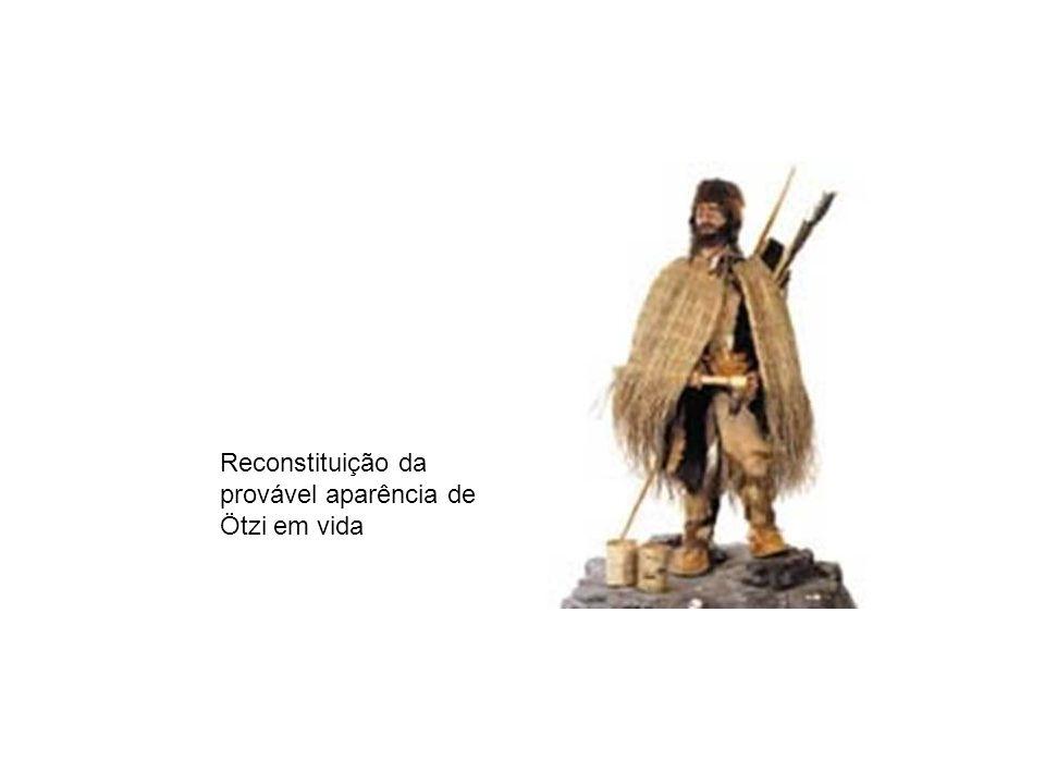 Reconstituição da provável aparência de Ötzi em vida