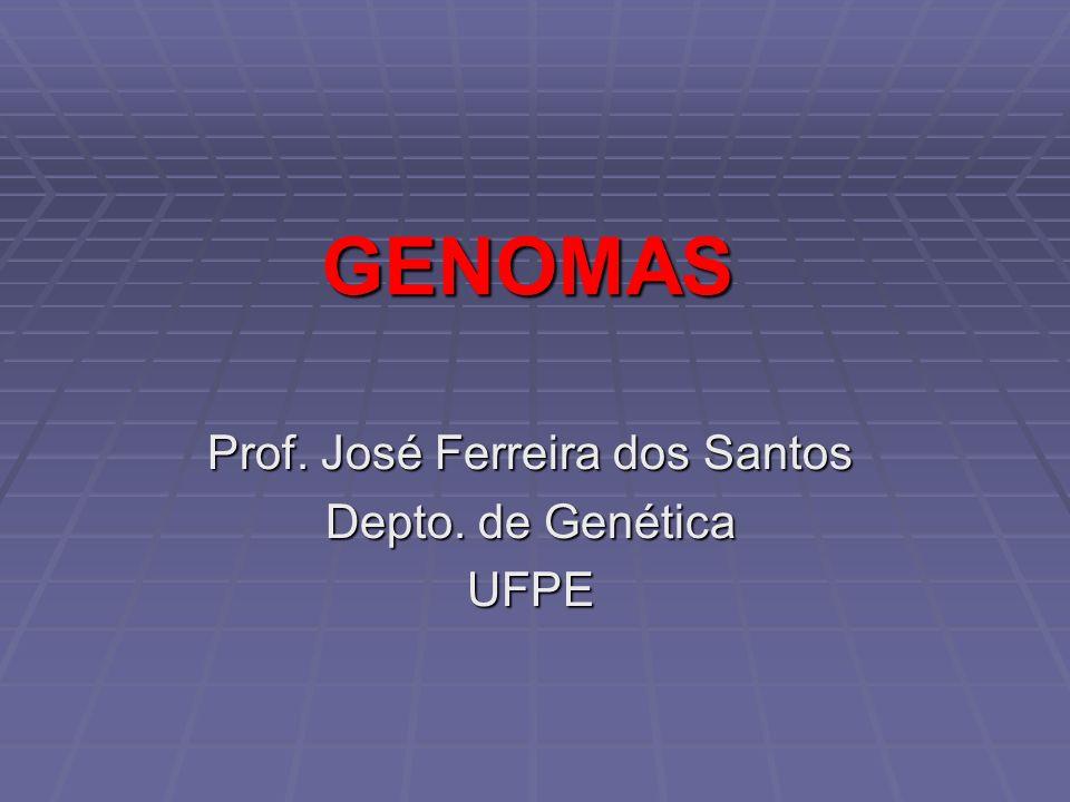 GENOMAS Prof. José Ferreira dos Santos Depto. de Genética UFPE