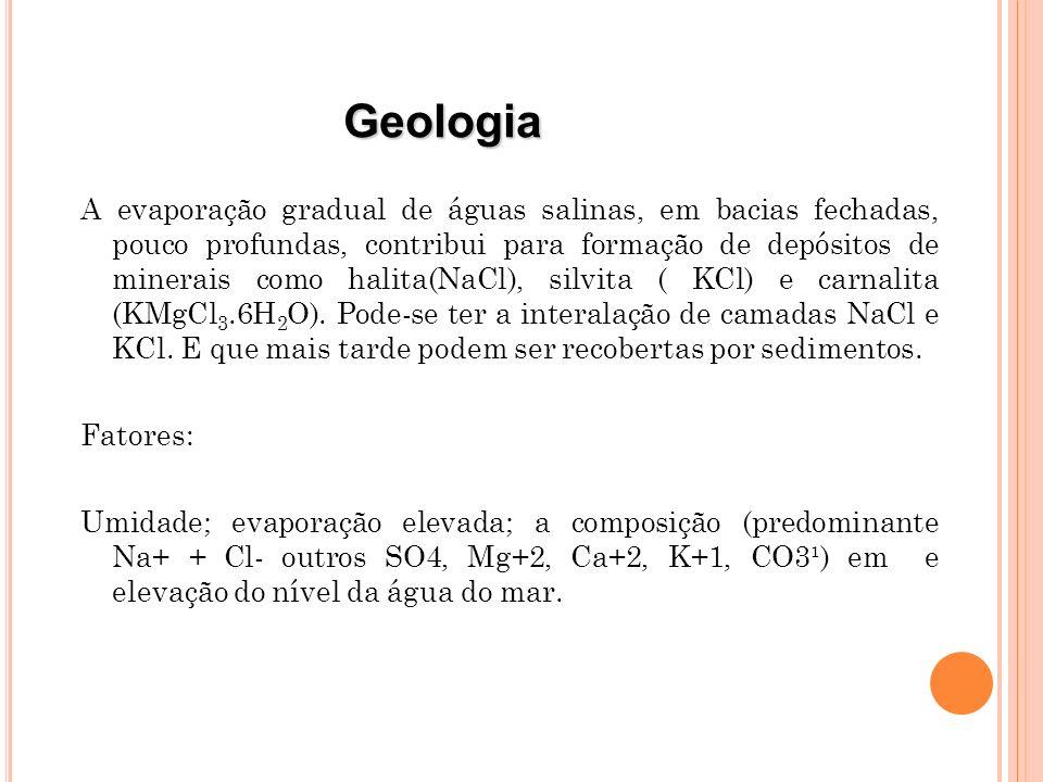 M INERALOGIA Existem numerosos minerais com presença significativa de potássio na sua rede cristalina.