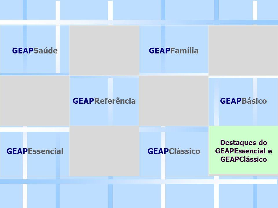 GEAPSaúdeGEAPFamília GEAPReferênciaGEAPBásico GEAPEssencialGEAPClássico Destaques do GEAPEssencial e GEAPClássico